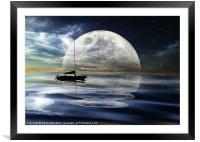 MOONLIGHT REFLECTIONS, Framed Mounted Print