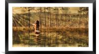 Bathing in the morning sun, Framed Mounted Print