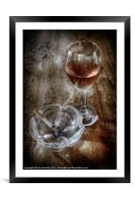SMOKING WINE, Framed Mounted Print