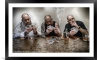 THE GAME, Framed Mounted Print