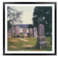 Craignish Gravestones, Framed Mounted Print