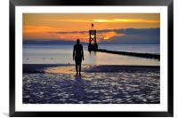 looking out to sea, Framed Mounted Print