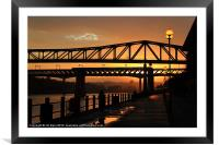 Fishermen on the Tyne, Framed Mounted Print