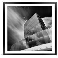 Long Exposure Euro Center VNG, Framed Mounted Print