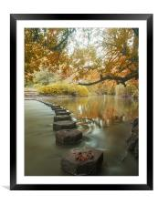 Stepping stones 1, Framed Mounted Print