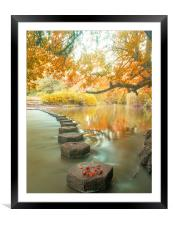 Box Hill Stepping Stones, Framed Mounted Print