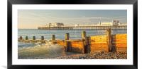 Incoming Wave Worthing, Framed Mounted Print