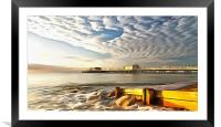 Worthing Pier And Beach, Framed Mounted Print