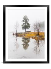 Lake In Norway, Framed Mounted Print