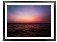 Adrift In Asia, Framed Mounted Print