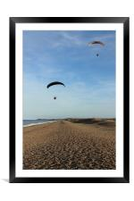 Paramotors, Framed Mounted Print