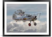 Gloster Gladiator, Framed Mounted Print