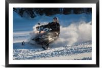 Canadian Winter Sled - 21st C Style, Framed Mounted Print