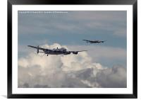 Canadian Lancaster - Welcome, Framed Mounted Print