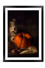 Halloween Still Life, Framed Mounted Print