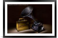 The Phonograph, Framed Mounted Print