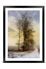 Christmas Eve in the Snow  3, Framed Mounted Print
