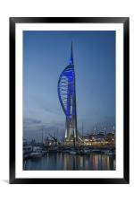 Gunwharf Quays, Portsmouth, UK, Framed Mounted Print