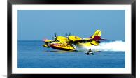 Canadair in Corsica, Framed Mounted Print