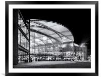 Norwich Forum in black and white, Framed Mounted Print