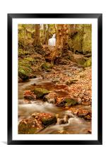 Falling through Lumsdale, Framed Mounted Print