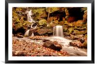 Lumsdale Falls 2, Framed Mounted Print
