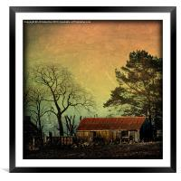 Red Roof - Scotland, Framed Mounted Print