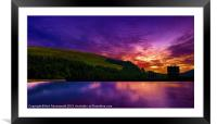 Dawn at Derwent 2, Framed Mounted Print