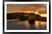 Derwent Dam Sunrise, Framed Mounted Print