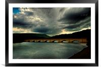 storm clouds ladybower, Framed Mounted Print