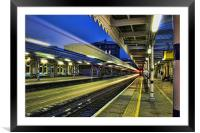 The Train Now Arriving, Framed Mounted Print