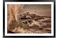 Storm Surge , Framed Mounted Print