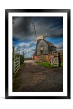 Charing Hill Mill, Framed Mounted Print