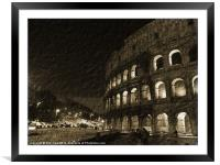 Colosseum in Rome, Framed Mounted Print