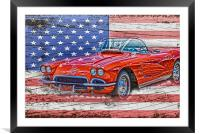 All American Beauty, Framed Mounted Print