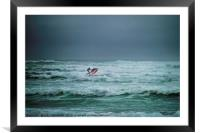 Shooting the Surf, Framed Mounted Print