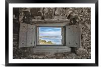 South View from Fort Matanzas, Framed Mounted Print