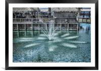 The Fountain at Renegades, Framed Mounted Print