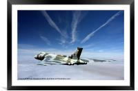 Vulcan and contrails, Framed Mounted Print