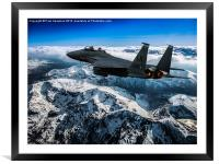 F-15E Strike Eagle, Framed Mounted Print