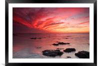 Red Sky at Night Hunstanton, Framed Mounted Print