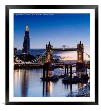 St Katherine's Pier and Tower Bridge at Sunset, Framed Mounted Print
