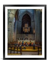 Ripon Cathedral Christmas Nativity, Framed Mounted Print