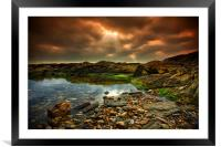 Horseley Cove rockpool, Framed Mounted Print