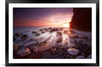 Seaford sunbeams, Framed Mounted Print