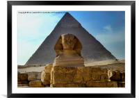 The Sphynx and Great Pyramid, Framed Mounted Print