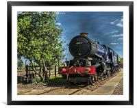 King Edward II Hauling The Mail, Framed Mounted Print