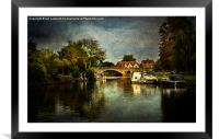 Abingdon Bridge, Framed Mounted Print