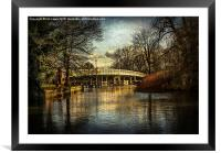 Whitchurch on Thames Toll Bridge, Framed Mounted Print