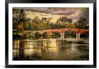 Sonning on Thames, Framed Mounted Print